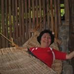 Maria Dolojan enjoying the duyan.
