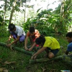 CPSU OJT's setting traps to collect indigenous microorganisms